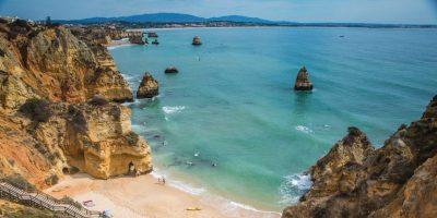 Portugal Lagos Beach Rock Formations